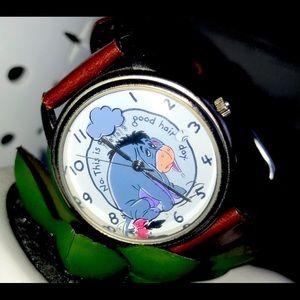 TIMEX Eeyore Winnie the Pooh Leather Wrist Watch